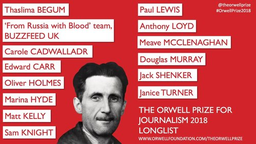 Longlisted for the 2018 Orwell Prize for Journalism